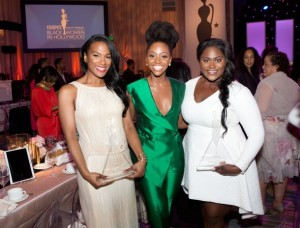 Vicky Jeudy, Teyonah Parris and Danielle Brooks at Essence Magazine Black Women In Hollywood Luncheon   Photo Credit: Essence Website