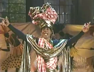 "Kim as Queen Mammy in ""Mammy Dearest"" (photo credit: YouTube)"